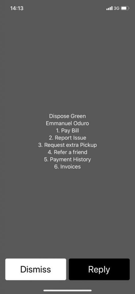 Dispose Green Customer Portal